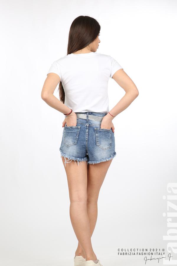 Дънкови панталонки с колан 6 fabrizia