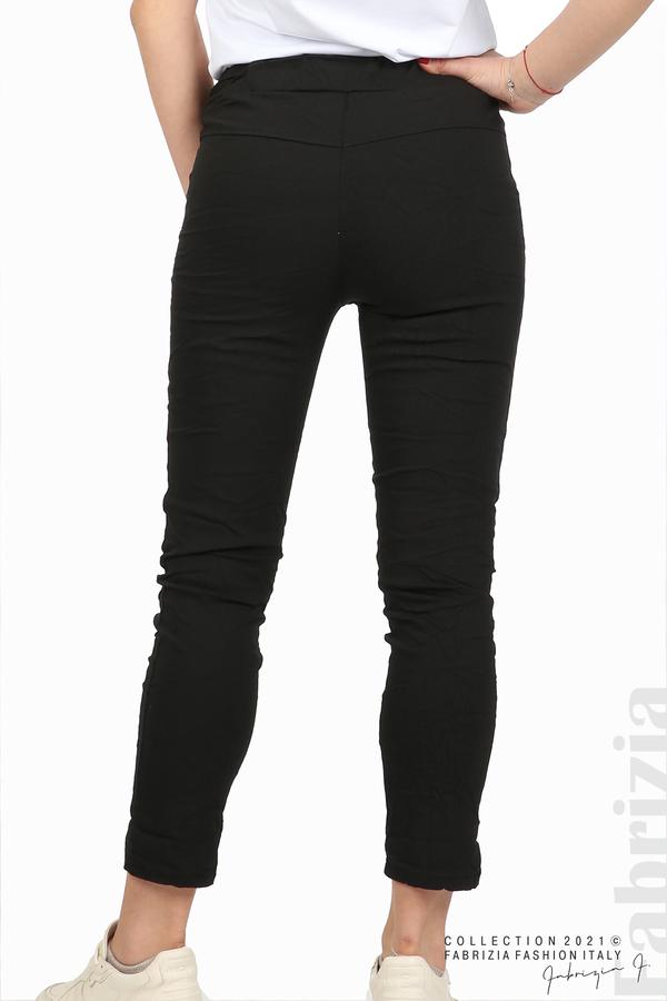 Едноцветен панталон с намачкан ефект черен 7 fabrizia