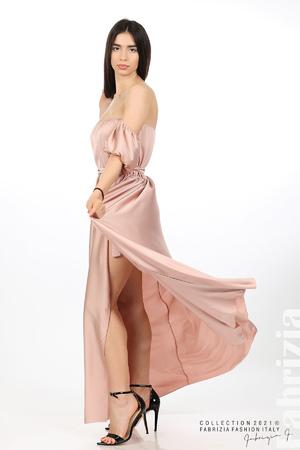 Сатенирана рокля с паднали ръкави
