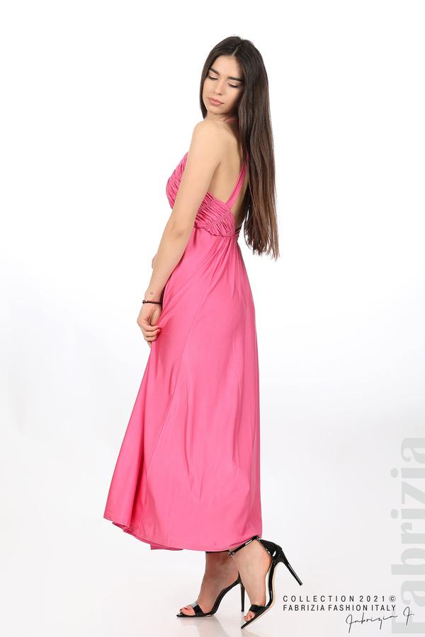 Дълга рокля с ефектна горна част циклама 3 fabrizia