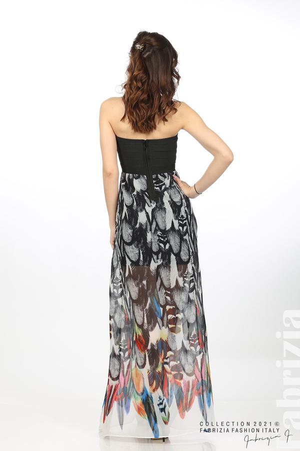 Дълга рокля с ластично бюстие черен 6 fabrizia