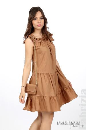 Къса рокля паднали рамене с аксесоар
