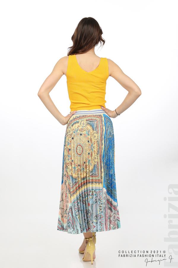 Многоцверна фигурална пола жълт/син 6 fabrizia