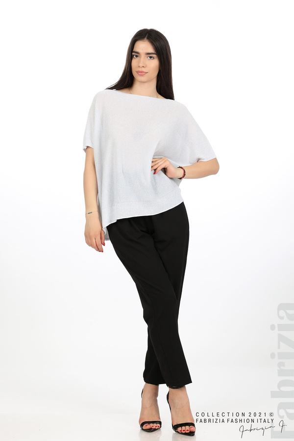 Блуза фино плетиво с ламе св.сив 3 fabrizia