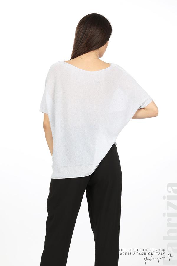 Блуза фино плетиво с ламе св.сив 6 fabrizia
