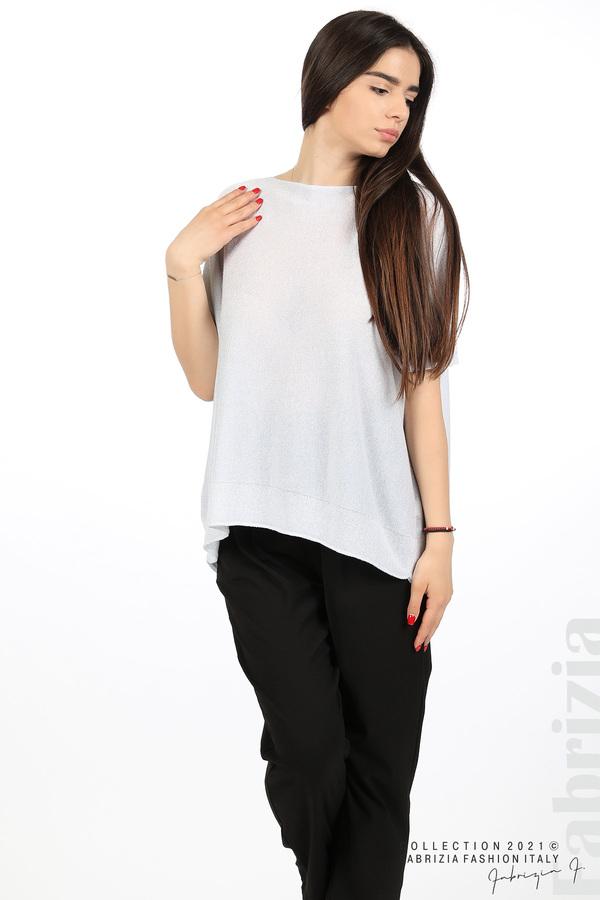 Блуза фино плетиво с ламе св.сив 5 fabrizia