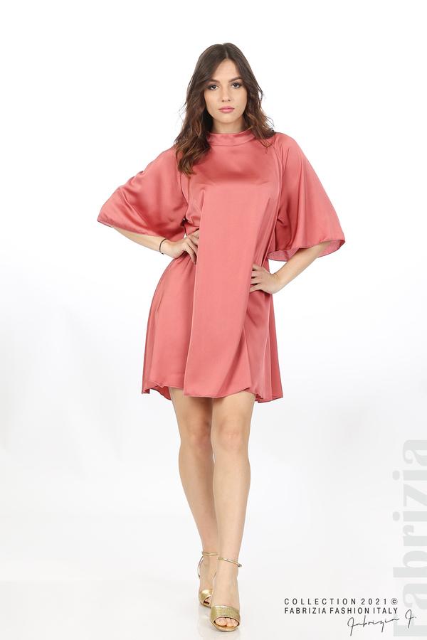 Сатенирана рокля с гол гръб т.корал 1 fabrizia