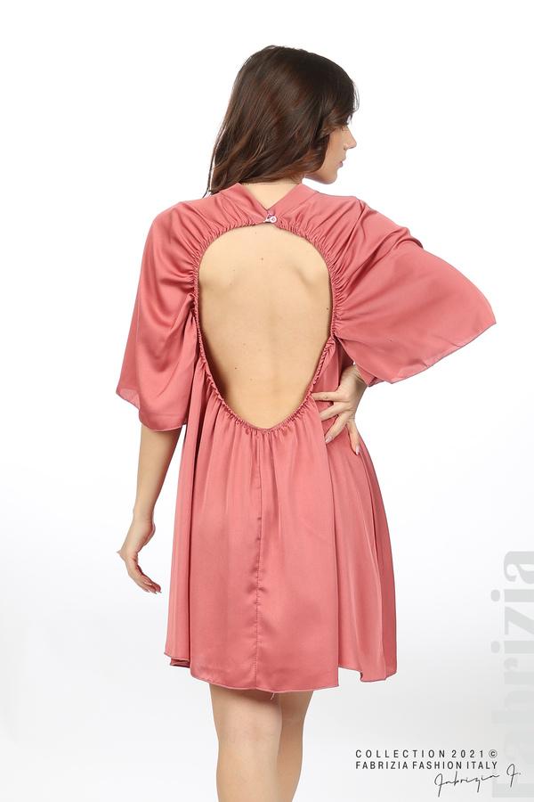 Сатенирана рокля с гол гръб т.корал 6 fabrizia