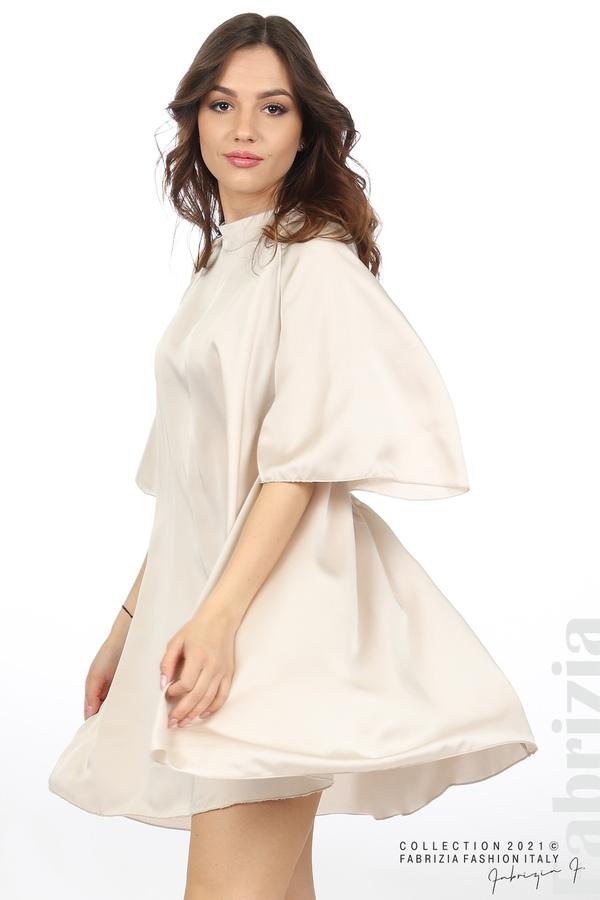 Сатенирана рокля с гол гръб шампанско 3 fabrizia