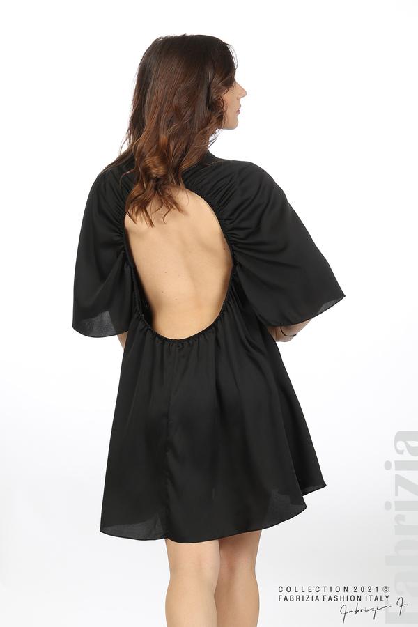 Сатенирана рокля с гол гръб черен 6 fabrizia