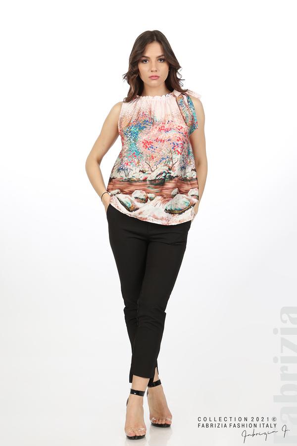 Дамски топ с пейзаж розов 3 fabrizia