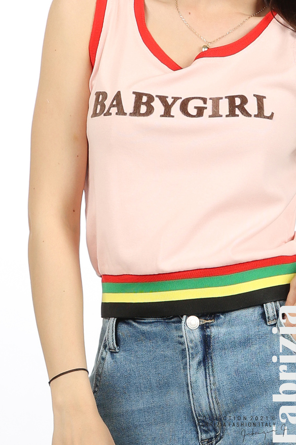 Топ Babygirl розов 1 fabrizia