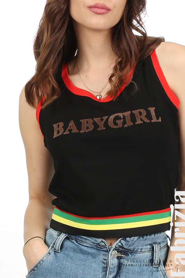 Топ Babygirl черен 2 fabrizia
