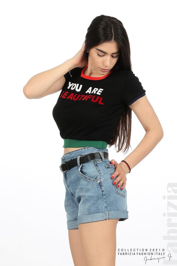 Дамска блуза You are beautiful черен 5 fabrizia