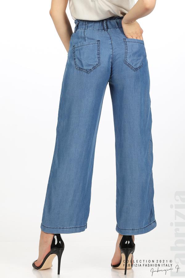 Едноцветен свободен панталон д.син 7 fabrizia