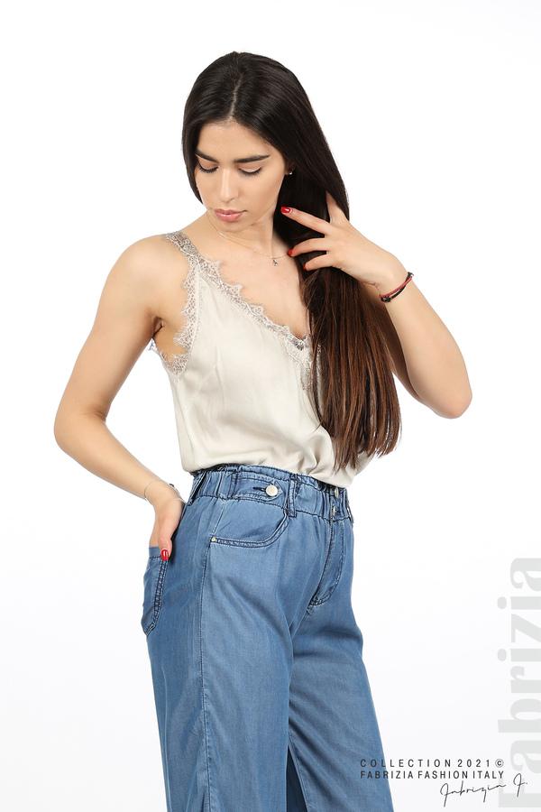 Едноцветен свободен панталон д.син 4 fabrizia