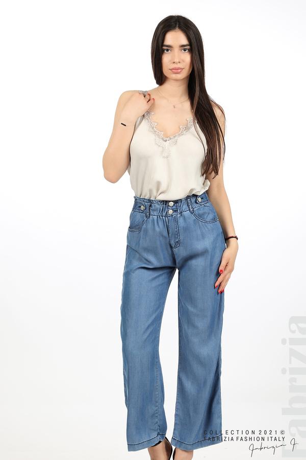 Едноцветен свободен панталон д.син 6 fabrizia