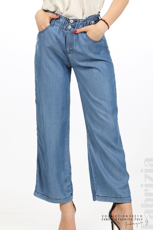 Едноцветен свободен панталон