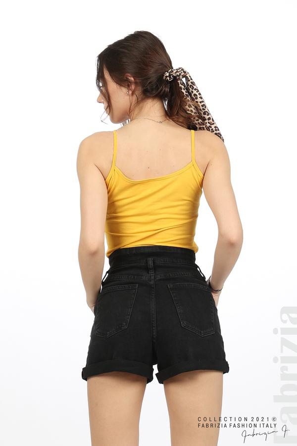 Дамски топ с тънки презрамки жълт 5 fabrizia