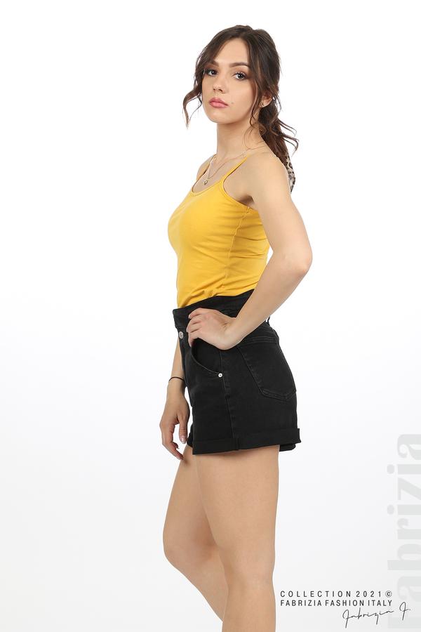 Дамски топ с тънки презрамки жълт 4 fabrizia