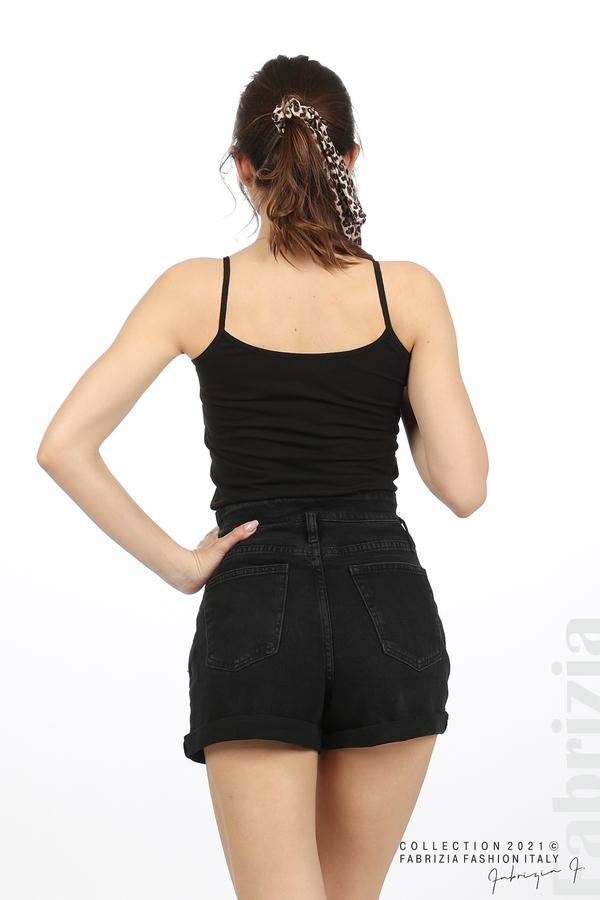 Дамски топ с тънки презрамки черен 5 fabrizia