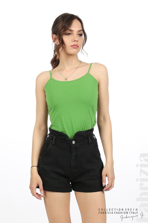 Дамски топ с тънки презрамки зелен 2 fabrizia