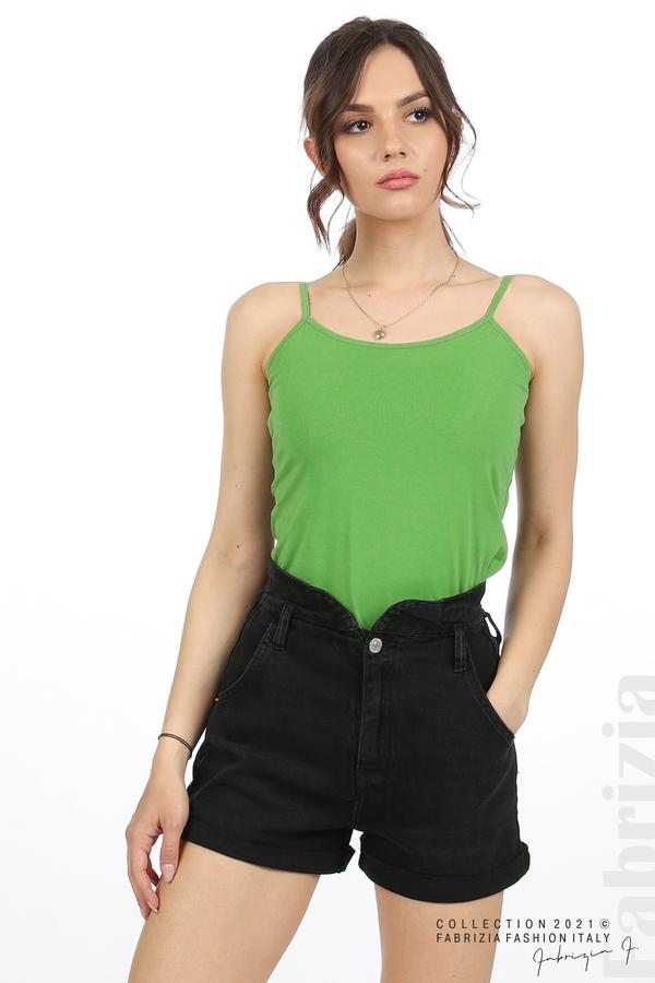 Дамски топ с тънки презрамки зелен 3 fabrizia
