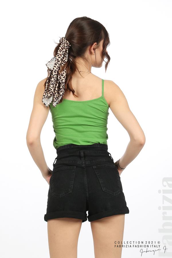 Дамски топ с тънки презрамки зелен 4 fabrizia