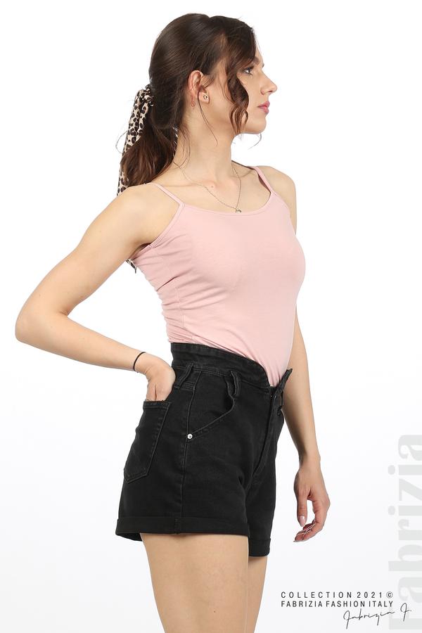 Дамски топ с тънки презрамки розов 2 fabrizia
