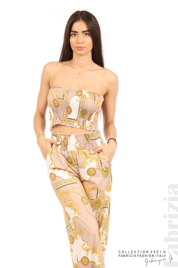 Дамски комплект бюстие и панталон бежов/екрю 3 fabrizia