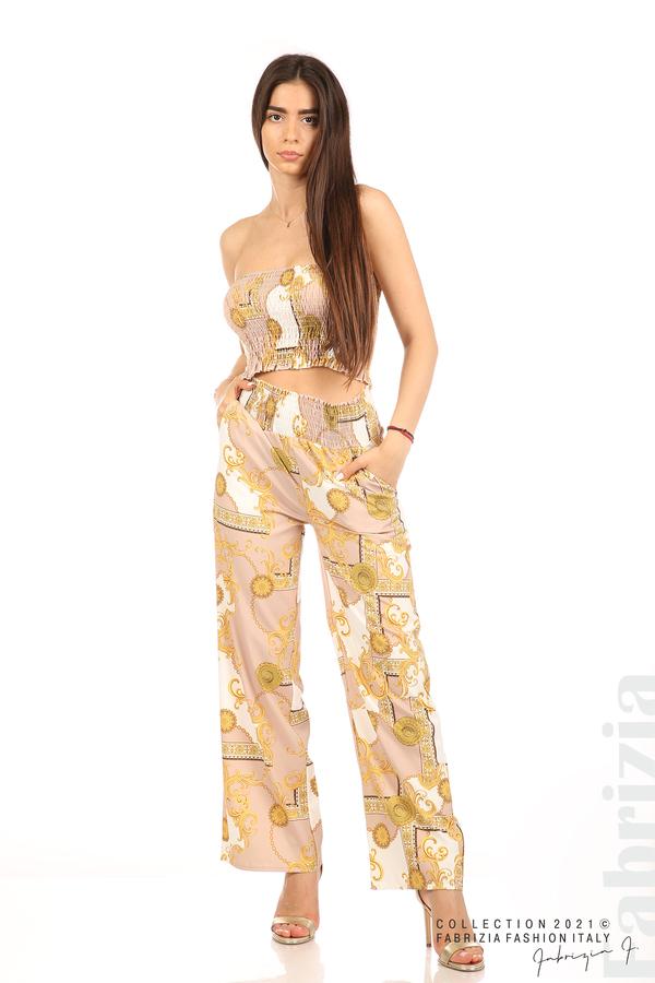 Дамски комплект бюстие и панталон бежов/екрю 1 fabrizia