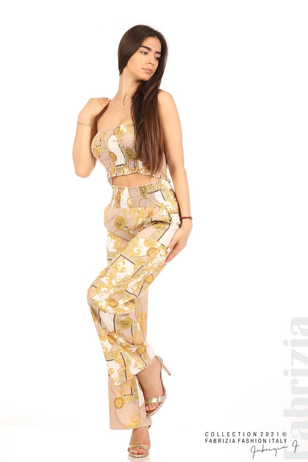 Дамски комплект бюстие и панталон бежов/екрю 4 fabrizia