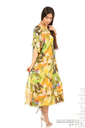 Многоцветна свободна рокля