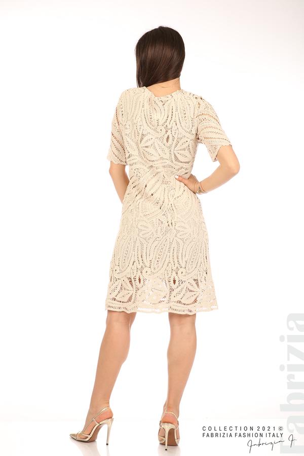 Плетена дамска рокля бежов 6 fabrizia