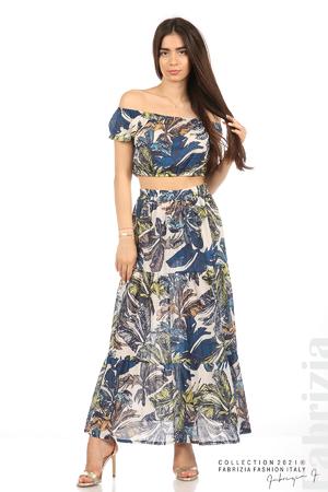Комплект блуза и пола листа