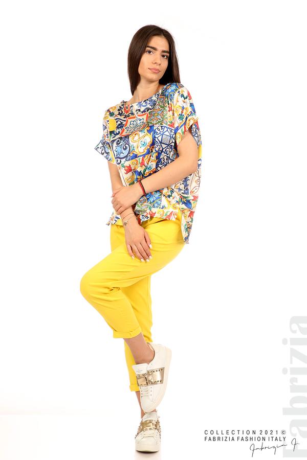 Сатенирана многоцветна блуза многоцветен 4 fabrizia