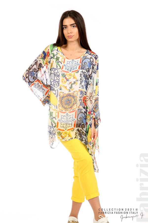 Ефирна блуза лимони бял 4 fabrizia