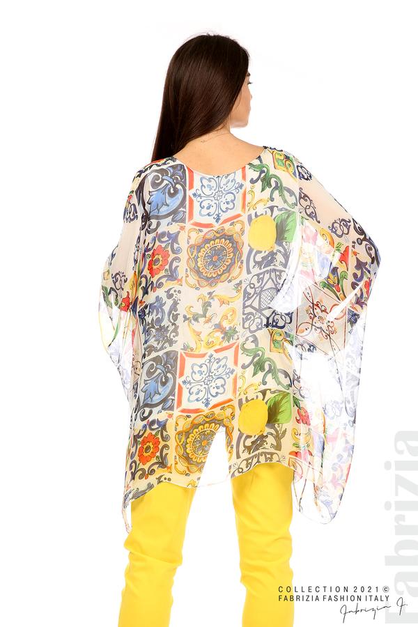 Ефирна блуза лимони бял 6 fabrizia