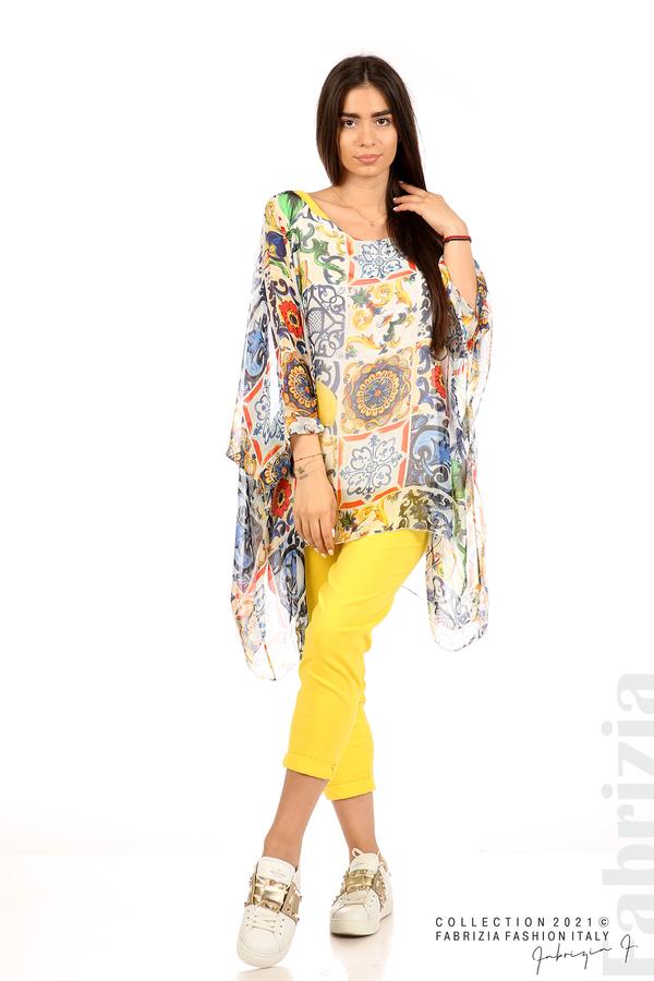 Ефирна блуза лимони бял 3 fabrizia