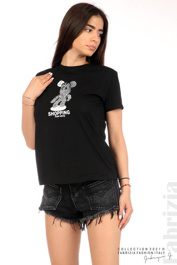 Блуза с мече верига черен 1 fabrizia