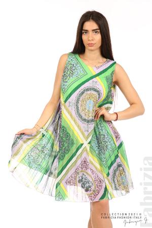 Многоцветна фигурална рокля солей