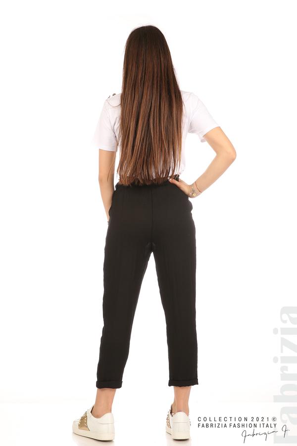 Панталон с декоративна връзка въже черен 7 fabrizia