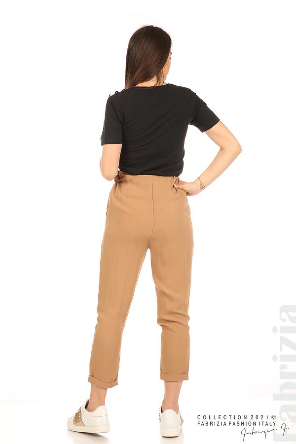 Панталон с декоративна връзка въже камел 8 fabrizia