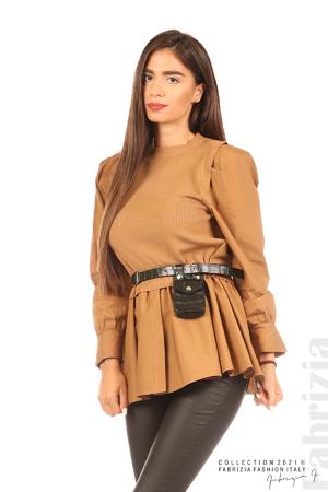 Комбинирана блуза с аксесоар