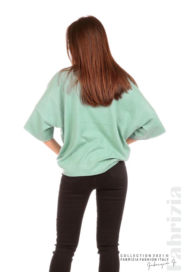 Блуза фино плетиво с аксесоар бл.зелен 6 fabrizia