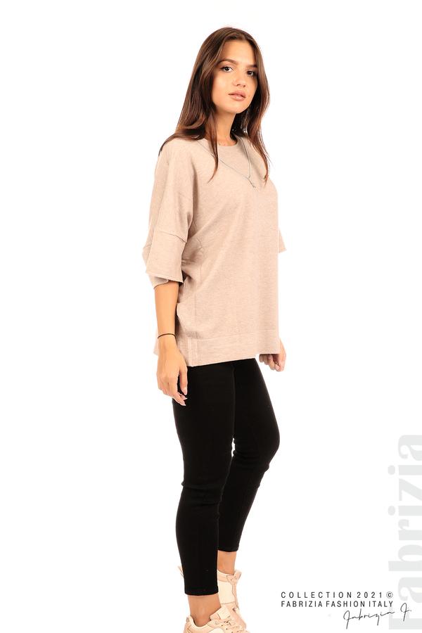 Блуза фино плетиво с аксесоар капучино 4 fabrizia