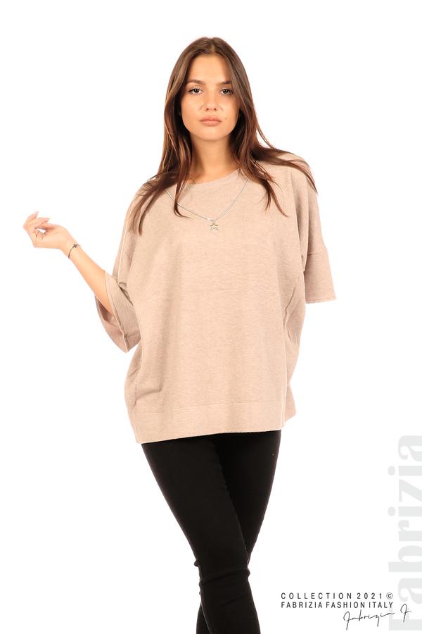 Блуза фино плетиво с аксесоар капучино 1 fabrizia