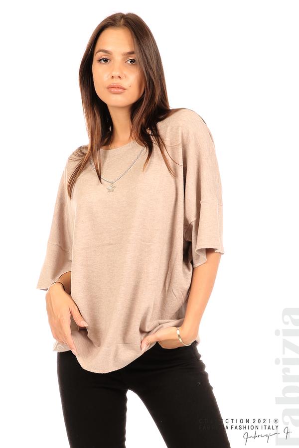 Блуза фино плетиво с аксесоар капучино 3 fabrizia