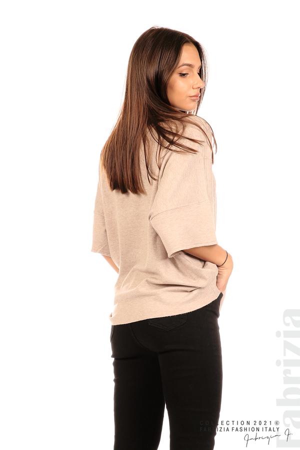 Блуза фино плетиво с аксесоар капучино 5 fabrizia