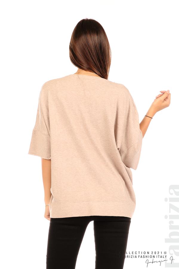Блуза фино плетиво с аксесоар капучино 6 fabrizia
